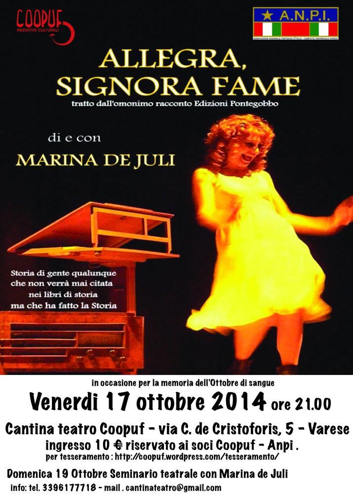 volantino Allegra, Signora Fame 17 ottobre 2014