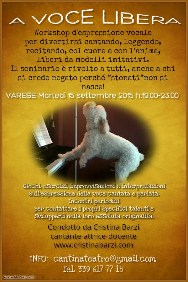 A Voce Libera flyer 15 09 15